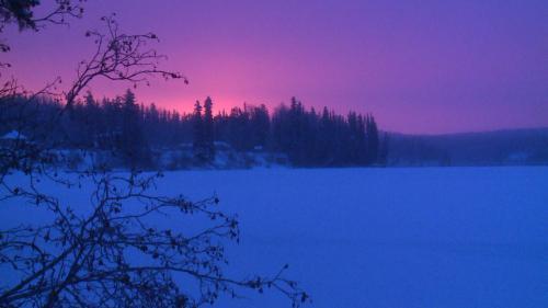 Watson lake - sunrise2