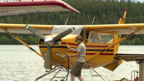 Float planes  - gassing up